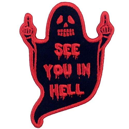 Parche termoadhesivo para la ropa, diseo de Nos vemos en el infierno Fantasma