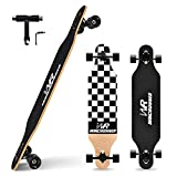 Windrunner 41inch Freeride Longboard Skateboard,8-Ply Natural Maple Drop Through Freestyle Complete...