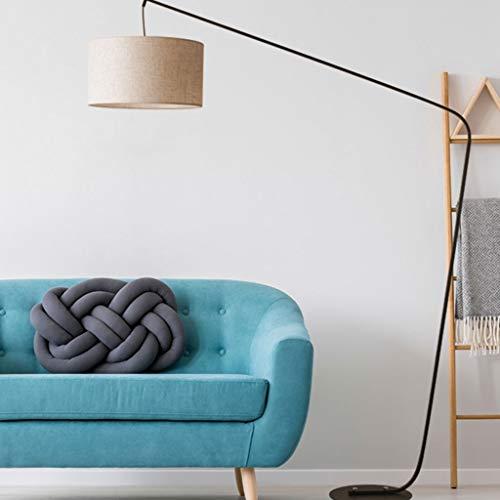 QTDH Moderne led-boog-vissen-vloerlamp met afstandsbediening, klassieke vloerlamp met hangende lamp-sofalamp voor de woonkamer, 12 W dimbaar