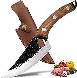 Ausbeinmesser 5,5-Zoll-Küchenmesser,Kochmesser mit Lederscheide / Serbisch handgeschmiedet,für Kochutensilien/Zuhause/Geschenk