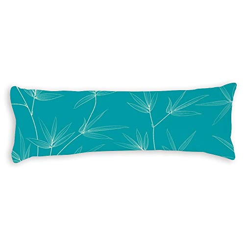 Bamboo Leaves Pregnancy Body Pillow Cover with Zipper Best Gifts to Friends Season Home Decorative Throw Pillow Case Cushion Cover Pillowcase for Sofa Bedroom