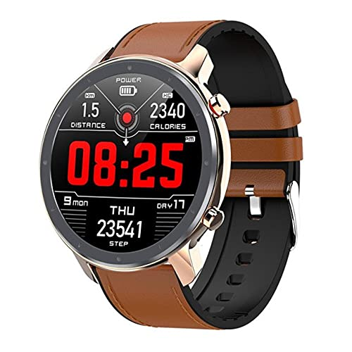 L11 Smart Watch Men IP68 Dispositivo Impermeable con Frecuencia Cardíaca ECG + PPG, Presión Arterial Y Monitor del Clima,E