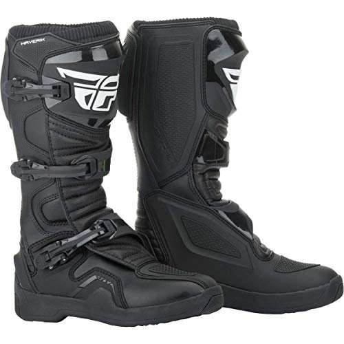 FLY Racing Maverik Boots for Motocross, Off-road, and ATV riding (SZ 10,BLACK)
