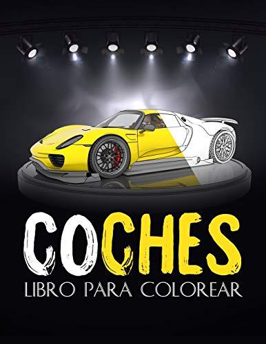 Coches: libro de lujo para colorear coches, para adultos, niños... Una colección...
