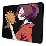 Samurai Champloo Fuu Gaming Mouse Pad with Stitched Edges Waterproof Non-Slip Mouse Pad for Laptop, Office and Home 8.3 X 10.3 in