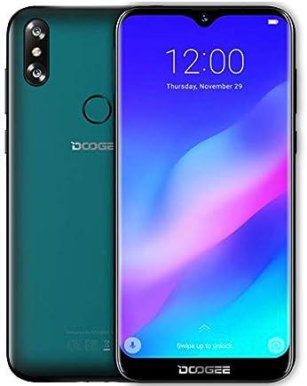 DOOGEE Y8 Android 9.0 4G Smartphone Teléfono Libre Dual Sim - Pantalla 6.1 '' Gota de Agua, 1.5GHz 3Go + 16GB, cámara Trasera Doble 8 + 5MP, Rostro Desbloqueado + Huella Digital - Verde Esmeralda