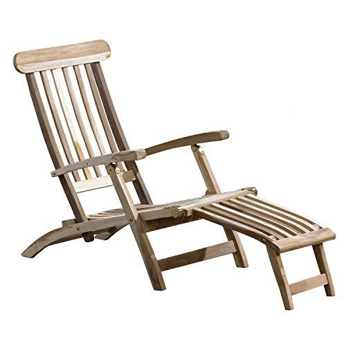 CHICREAT Teakholz Deckchair Liege Gartenliege Sonnenliege massiv