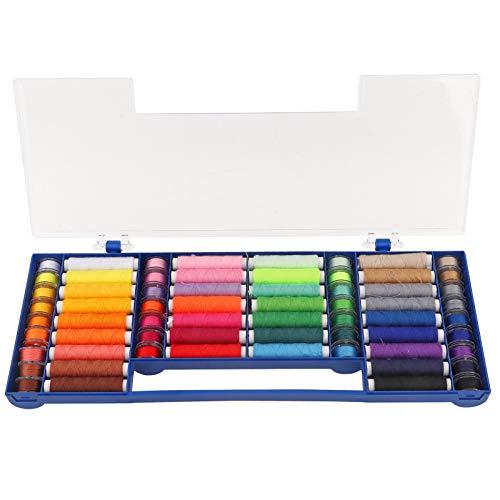 HEEPDD Kit de Hilos de Coser de bobinas de 32 Colores, Kit de Suministros de Costura de Hilo de bobinas de plástico preenrollado con Caja para Coser a Mano y a máquina