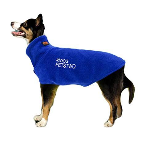 Outdoor Fleece Jacke für Kleine Mittlere Große Hunde Sport Gilet Winter Herbst Thermal Coat Weste Haustier Bequeme Kleidung Hundemantel Verstellbare Vest Pullover (XXXL, blau)