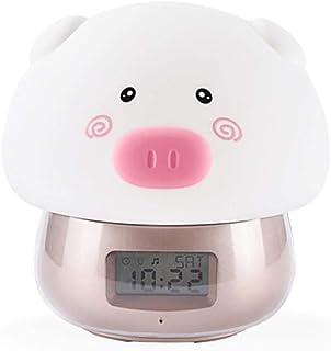 Yhhzw Usb Rechargeab Cute Animal Led Night Night Alarm Clock Kid Baby Bedroom Home Interior Mesita De Noche Decoración Lámpara De Mesa De Regalo
