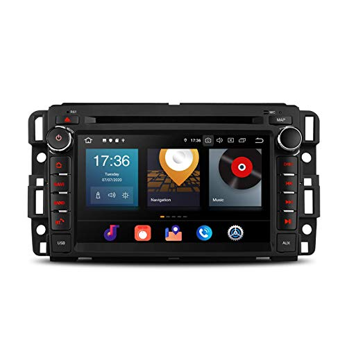 7 'Android 10 Android Car Radio 4G + 64G Octa Core Reproductor de DVD Estéreo para automóvil Bluetooth Navegación GPS Reproductor automático Soporte Android Auto CarAutoPlay WIFI DAB + para CHEVROLET