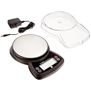 Jennings CJ-4000 Compact Digital Weigh Scale 4000g x 0.5g PCS JScale Black AC Adapter