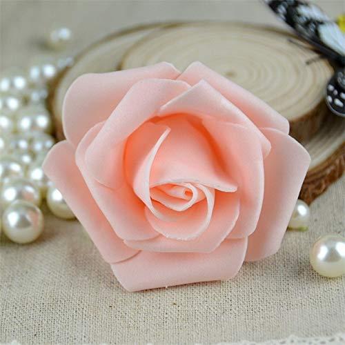 RAQ Foam Rose Flowers, hoofden voor bruiloft, decoratie, scrapbooking, krans champagne