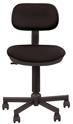 Bambus Kinder-Bürostuhl, ergonomisch, Sitzhöhe 42 cm-56 cm Höhenverstellbare Rückenlehne / 360° drehbarer Sitz, Rollen mehrfarbig / Schwarz Rabattpreis.