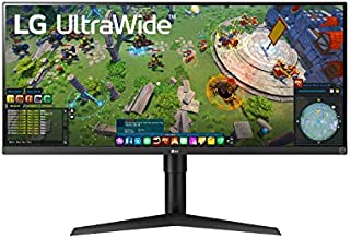 LG 34WP65G-B 34-Inch 21:9 UltraWide Full HD (2560 x 1080) IPS Display with VESA DisplayHDR 400 and AMD FreeSync with Height and tilt Adjustable Stand - Black