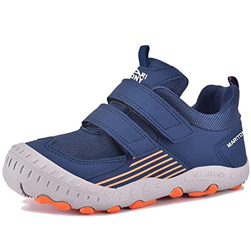 [JACKS HIBO] スニーカー キッズ つま先保護 スポーツシューズ マジックテープ 運動靴 男の子 女の子 防水 防滑 通学履き 子供靴