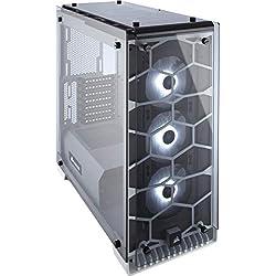 Corsair Crystal 570X Case da Gaming, Mid-Tower ATX, Finestra Laterale Vetro Temperato e Ventole, RGB LED, Bianco