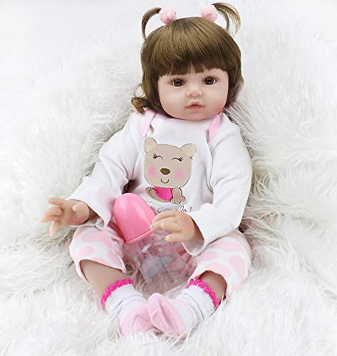 CHAREX Reborn Baby Dolls, Realistic Newborn Baby Dolls That Look Real, 18 inch Reborn Toddler Dolls with Clothes and Accessories Gift for Kid Age 3+