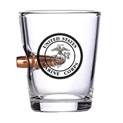 OFFICIALLY LICENSED USMC BULLET SHOT GLASS – Enhance your bar collection and display your Marine Corps pride with this USMC shot glass featuring a real bullet HIGH QUALITY – Show your Semper Fi pride when displaying this hand blown glass on your bar ...