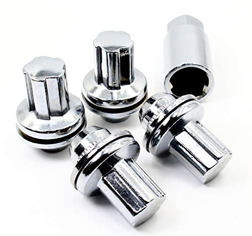 Set of 4 14x1.5 Veritek OEM Style Factory Replacement Chrome Lug Nut Wheel Locks for Toyota Sequoia Landcruiser Tundra Lexus LX