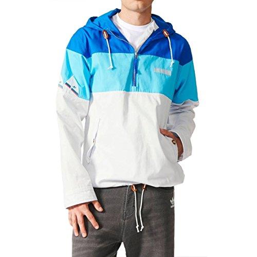 adidas Originals - Chaqueta - para Hombre Blanco/Azul Large