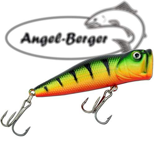 Angel-Berger Popper Oberflächenköder 3D Wobbler