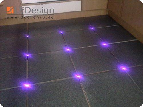8x Fliesen LED 3mm Fuge Licht Beleuchtung inkl. Trafo Fugenlicht Kreuz Fliesenlicht (UV-Violett-schwarzlicht)