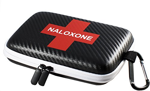Naloxone Case for Opioid Overdose and Narcan Kits | Custom Designed Hardshell Case Holds All Formulations of Naloxone | Does not Include Accessories or Narcan (Case Size 7' x 4.5' x 2') (Black - 1)