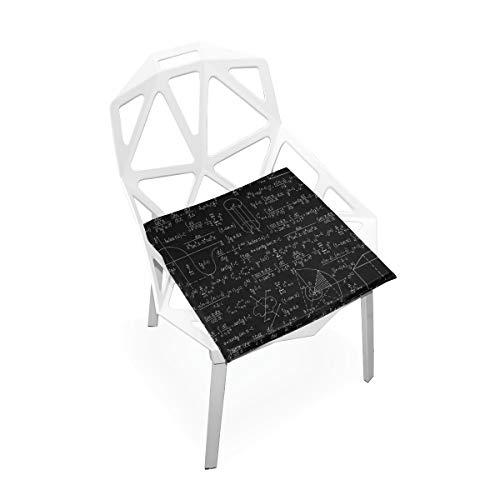 Mathematikunterricht kompliziert Mathematische Genie weiche rutschfeste quadratische Memory Foam Chair Pads Kissen Sitz Home Küche Esszimmer Büro Rollstuhl Schreibtisch Holzmöbel Indoor 16 X 16 Zoll