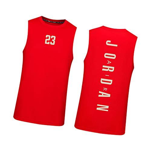 CXMY Men's Basketball Jersey Jordan Bulls, 23# Summer Sleeveless Mesh Sportswear Tops Vest, Unisex Breathable Basketball Swingman Jerseys-Red-S