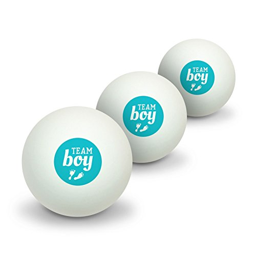 GRAPHICS & MORE Team Boy Baby Blue Footprints Novelty Table Tennis Ping Pong Ball 3 Pack