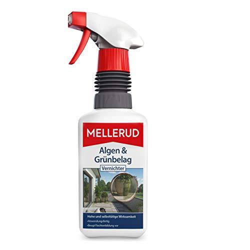 MELLERUD Algen & Grünbelag Vernichter – Effizientes Spray zum Entfernen von Algen und Grünbelag – 1 x 0,5 l