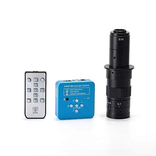 HAYEAR 34MP 2K 1080P HDMI Microscope Electronic Digital Camera 180X Zoom C-Mount Glass Lens