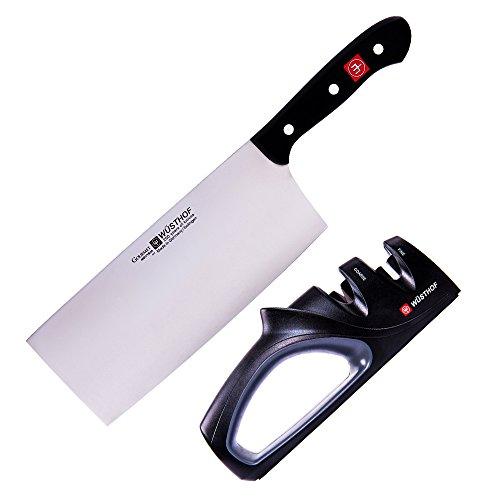 Wüsthof Chinesisches Kochmesser + Messerschärfer 9281-4