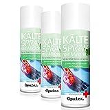 3 x 400ml Oputec Kältespray Eisspray Sport: Erste-Hilfe-Spray bei Sportverletzungen, Schmerzen und Schwellungen (Minze) - Medizinisches Kühlspray für jedes Erste-Hilfe-Set