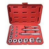 17PCS Cojinete de rueda Race Seal Bush Driver Master Tool Eje de aluminio Auto Set Herramientas de reparación de automóviles con caja de almacenamiento (Plata) ESjasnyfall