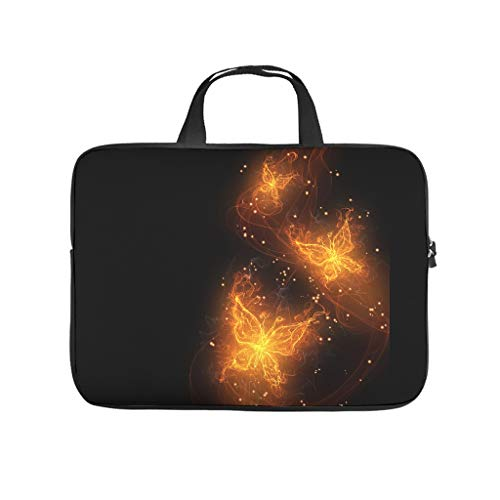 Three Fantasty Fiery Butterflies Multifuntional High Capacity Laptop Bag with Strap Notebook Bag Computer Carry Bag for Work Study for Workers Students White 12 Zoll