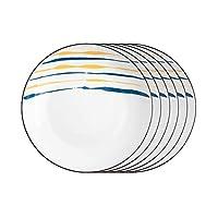 食器セット クリエイティブディナープレートセット2/4/6ピースキッチン食器台丸セラミックディナープレート - 電子レンジ、オーブン、食器洗い機セーフ 素晴らしさの食器セット (Number : 6PACK, Size : S)