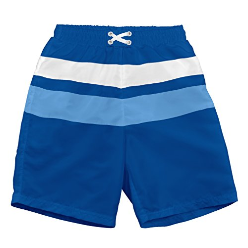 i play. 722103-635-44 Schwimmwindel- Badeshorts Farbblock 12-18 Monate, royal / light blue