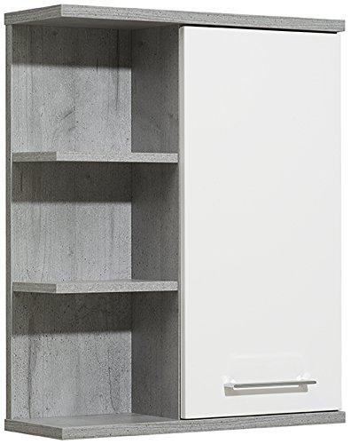 Pelipal 370 Fresh Line Grey Wandschrank, Holzdekor, Betonoptik, 20,0 x 60,0 x 75,0 cm