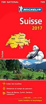 Carte Suisse Michelin 2017 de Michelin
