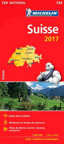 Carte Suisse Michelin 2017