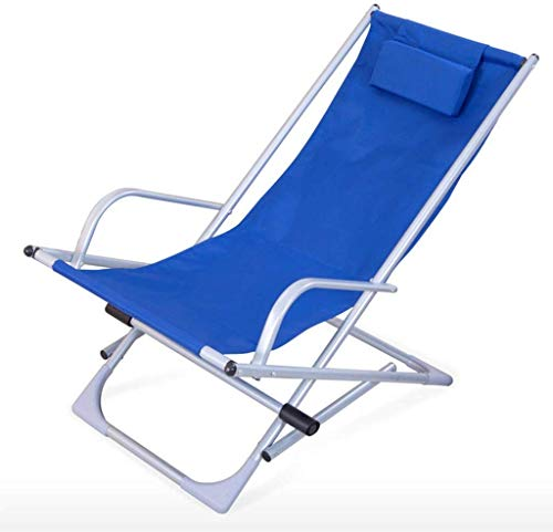 FACAZ Camping Chairs Garden Loungers Folding Chair Garden Folding Sun Lounger,Rocking Chair Recliner Beach Balcony Indoor Outdoor Lunch Break Lounge Chair (105×63×76cm) (Color, Natural