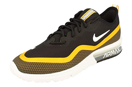 Nike Herren Air Max Sequent 4.5 Se Leichtathletikschuhe, Mehrfarbig (Black/White/University Gold 000), 42.5 EU
