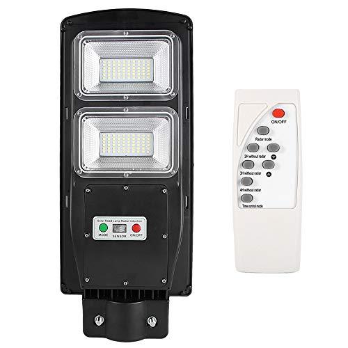 Ausla Farola LED 60W Solar Exterior 5500K 120LED Aplique de luz Solar Lámpara de Aplique de Sensor con Control Remoto Luz de Pared para para Carreteras, Jardines, Patios, Estacionamientos