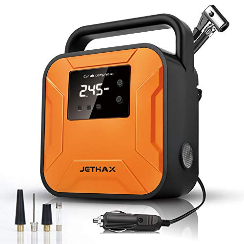 JETHAX Air Compressor Tire Inflator, 12V Portable Air Pump for Car Tires,...