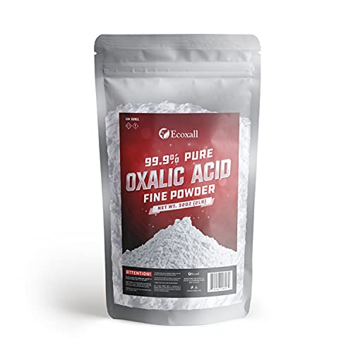 Oxalic Acid (2 lbs) 99.9% Pure - Metal & Wood Cleaning and Bleaching, Rust Removal - Premium Grade - Ecoxall