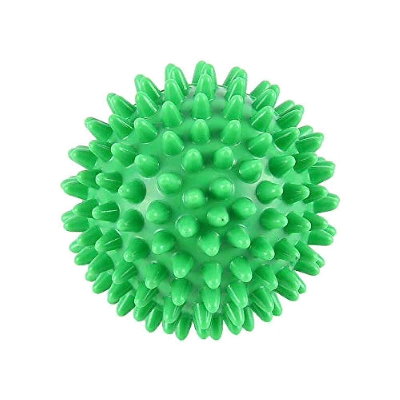 セミナーナイロン法的PVC先端のとがったマッサージボール足の痛みと足底筋膜炎除去剤ハリネズミボール(6cm)