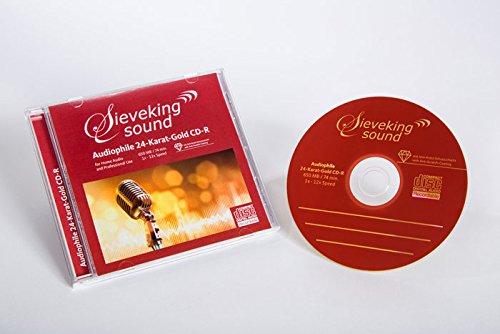 CD-Rohlinge 24k Gold 25-Pack mit Case+Tray