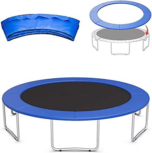 VULLDWS Acolchado de borde de trampolín, Cubierta de primavera de seguridad Padding Surround Almohadillas, 6FT 8FT 10FT 12FT 13FT 14FT, resistente a los rayos UV, resistente al desgarro, protección de